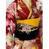 Kazue Cotton Kimono (Maroon)