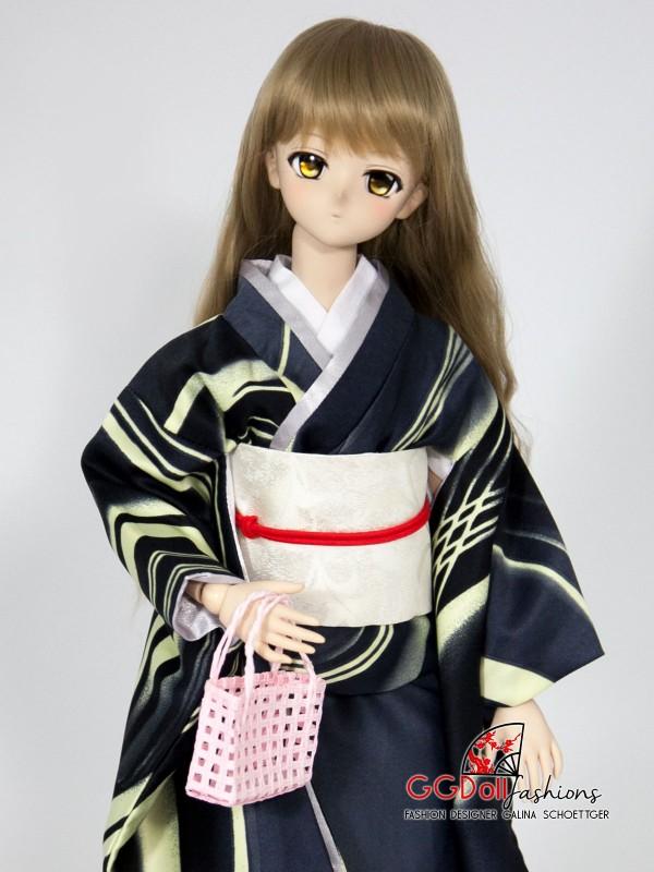 [ONE OFF] Amagawa Mixed Silk Kimono (Black)