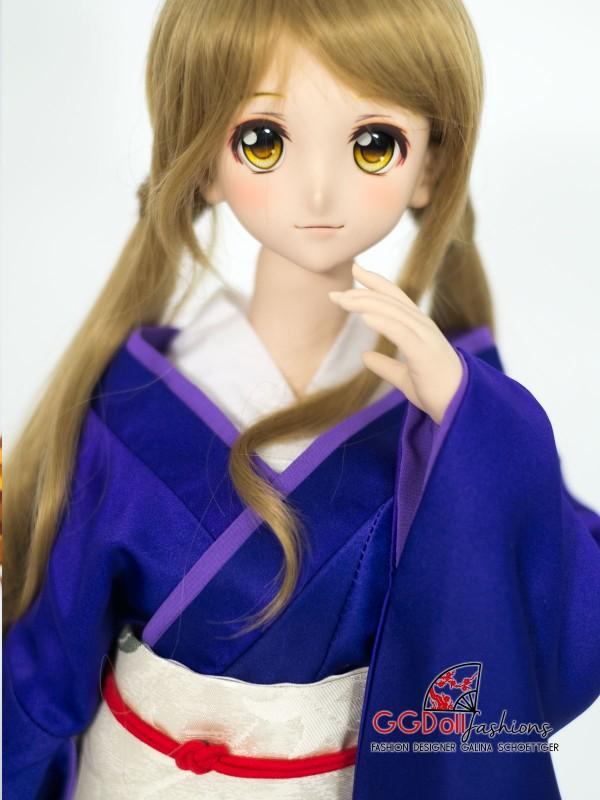 [ONE OFF] Gushiken Mixed Silk Kimono (Purple)
