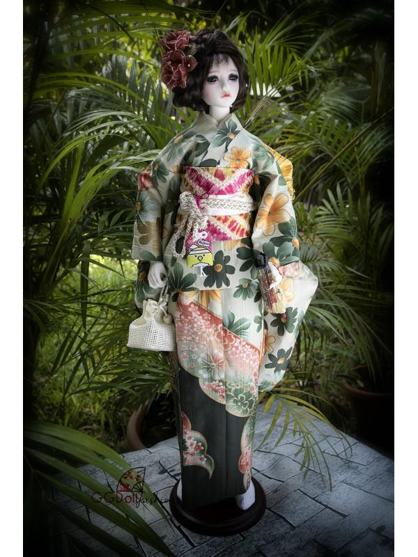 Oogi Cotton Kimono (Grey Green)